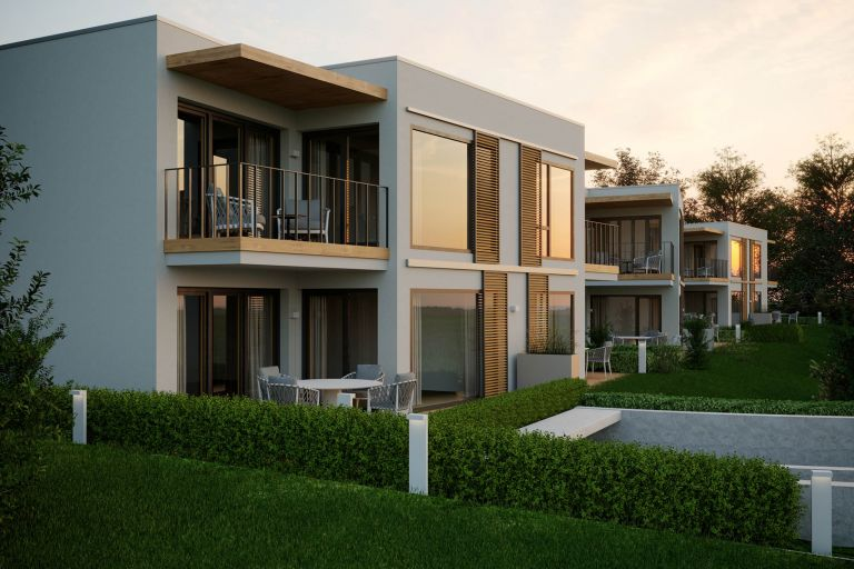 """AZURBLAU"" – 12 new apartments with lake view and bathing facilities"
