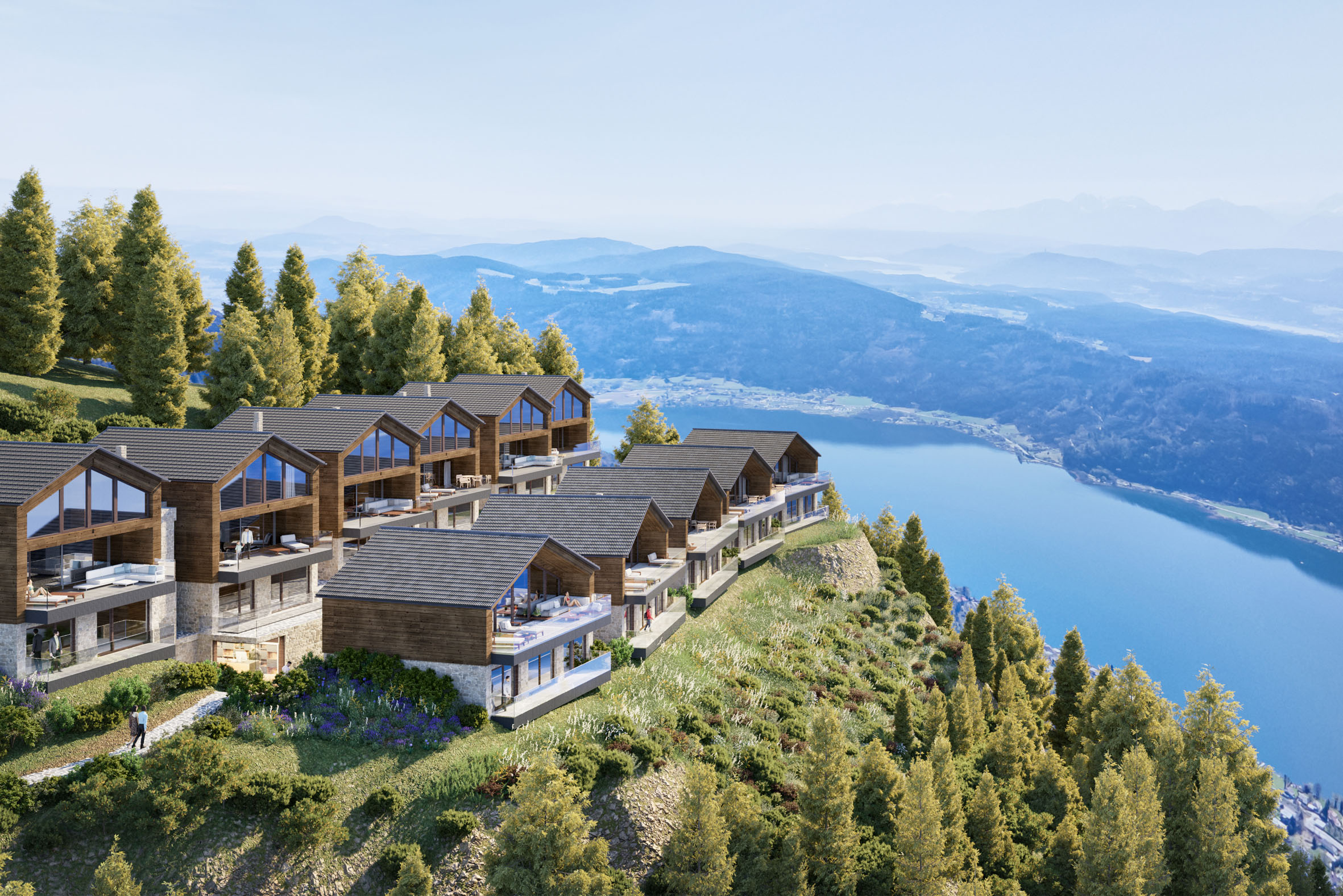COMING SOON: Lake view chalets on the Gerlitzen for tourist rental